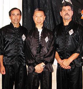 Photo of Sifu Paul Kinney, Sigung Lam Chun Fai, Sifu Lester Figueroa